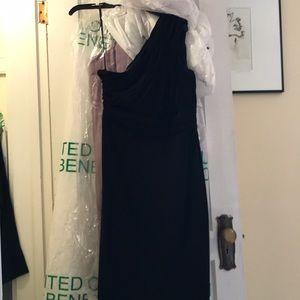 One shoulder CK black dress